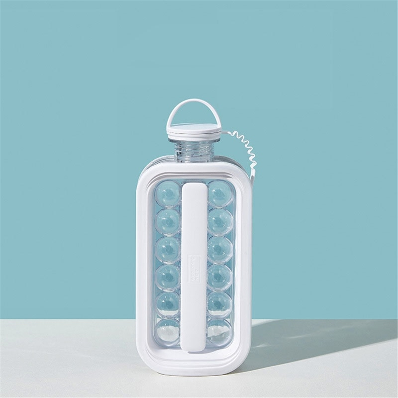 Máquina de hacer bolas de hielo botella de agua cubito de hielo molde hervidor de hielo bandeja enfriadora de fiesta contenedor 449C