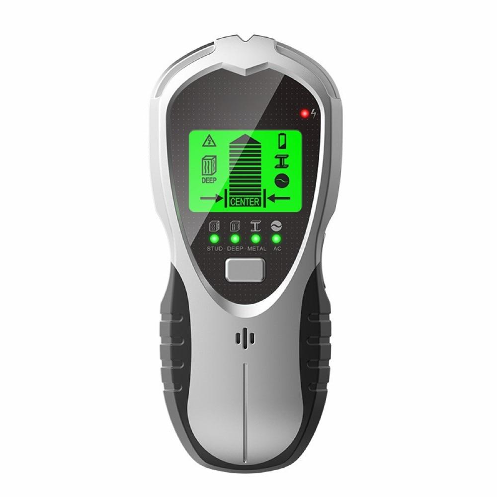 Localizador de Parafuso Áudio para Vigas de Madeira Detector de Metais 4 em 1 Prisioneiro Parede Scanner Parafuso Sensor hd Display Lcd Alarme Fios ac Digital