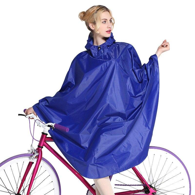 Impermeable con capucha larga para mujer bicicleta Poncho de lluvia bicicleta impermeable para exterior monos impermeable chubasquero mujer adulto equipo de lluvia CYY412