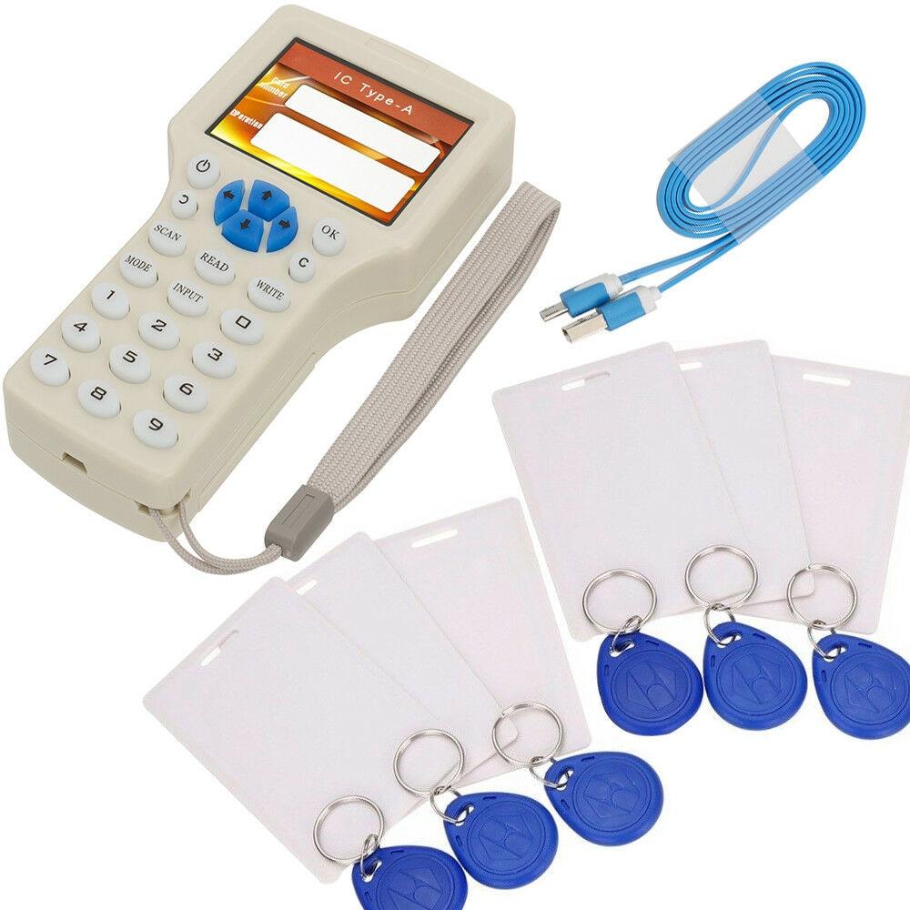 NFC Smart 10 Частота RFID копировальный аппарат писатель считыватель Дубликатор 125 кГц 13,56 МГц USB программист брелок считыватель карт UID декодер Нов...