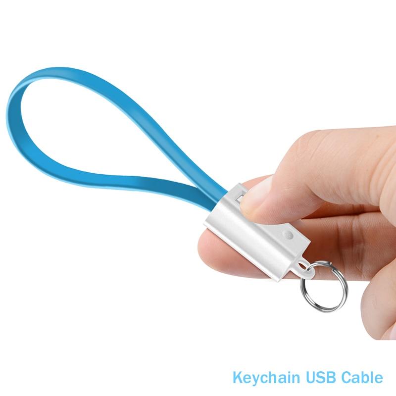 LLavero de Cable USB portátil tipo C, Cable Micro usb de datos...