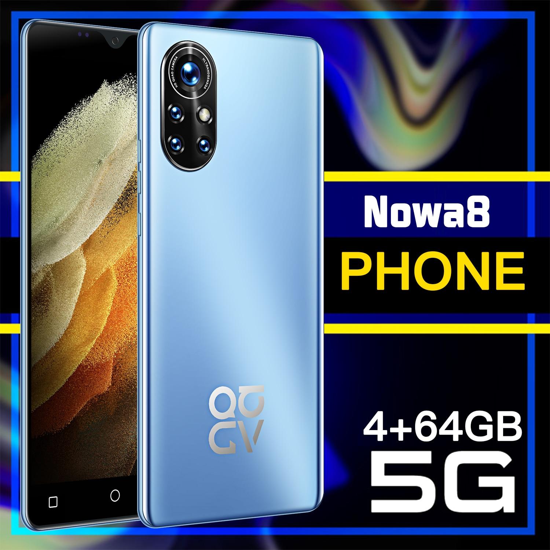 HUAWE Nowa8 4G 5G LTE Snapdragon888 الهاتف الذكي النسخة العالمية الهاتف المحمول NFC المزدوج سيم Sansumg عشاري النواة الهاتف المحمول
