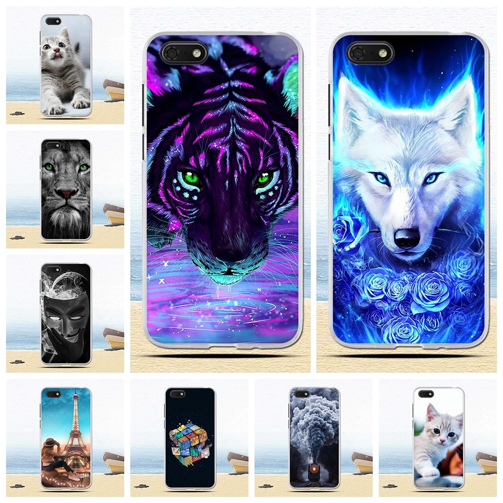 "Funda de silicona de 5,45 ""de cajas del teléfono de la contraportada para Huawei Honor 7A 7 DUA-L22 caso Coque parachoques bolsas"