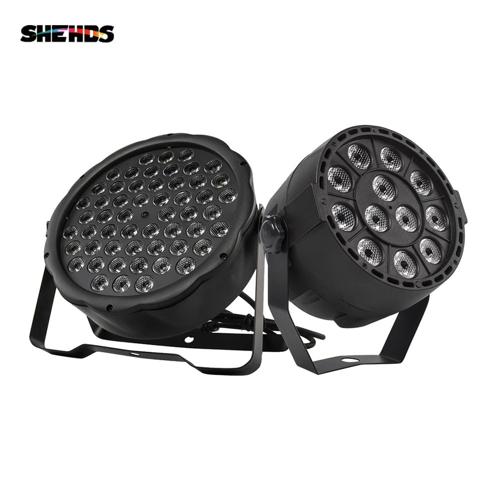 pack of 16 rasha stage light 12 15w 5in1 rgbaw wireless led par light wifi led slim par projector for wedding party event LED Par 12x3W RGBW LED Stage Light Par Light 54x3W DMX512 for Disco DJ projector Machine Party Decoration SHEHDS Stage Lighting