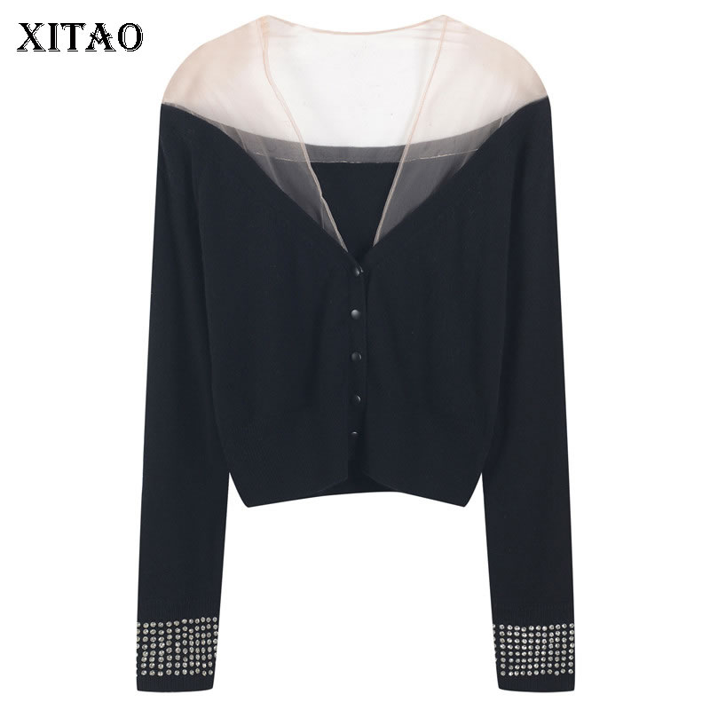 XITAO خليط واحدة الصدر سترة المرأة 2021 الربيع عادية موضة جديدة نمط مزاجه كل مباراة ملابس حريمي WLD6071