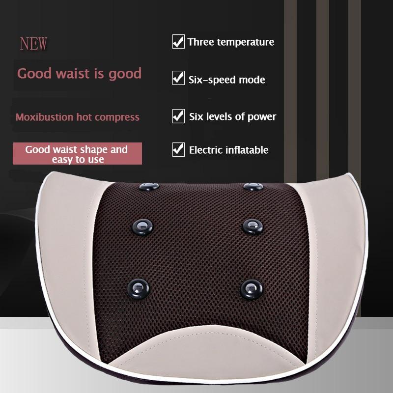 Electric Waist massage Equipment  Multi-Mode Pulse Body Massager  Magnet Infrared Waist Cushion Stretch Lumbar Spine  Relax Body enlarge