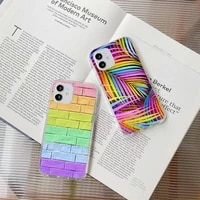colorful candies phone case for iphone 7 8 plus x xr xs 11 12 mini pro max transparent nax fundas cover