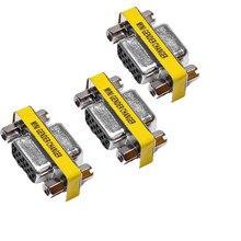 Hembra a hembra SVGA VGA DB15 15 Pin hembra adaptador de cambiador de género Al