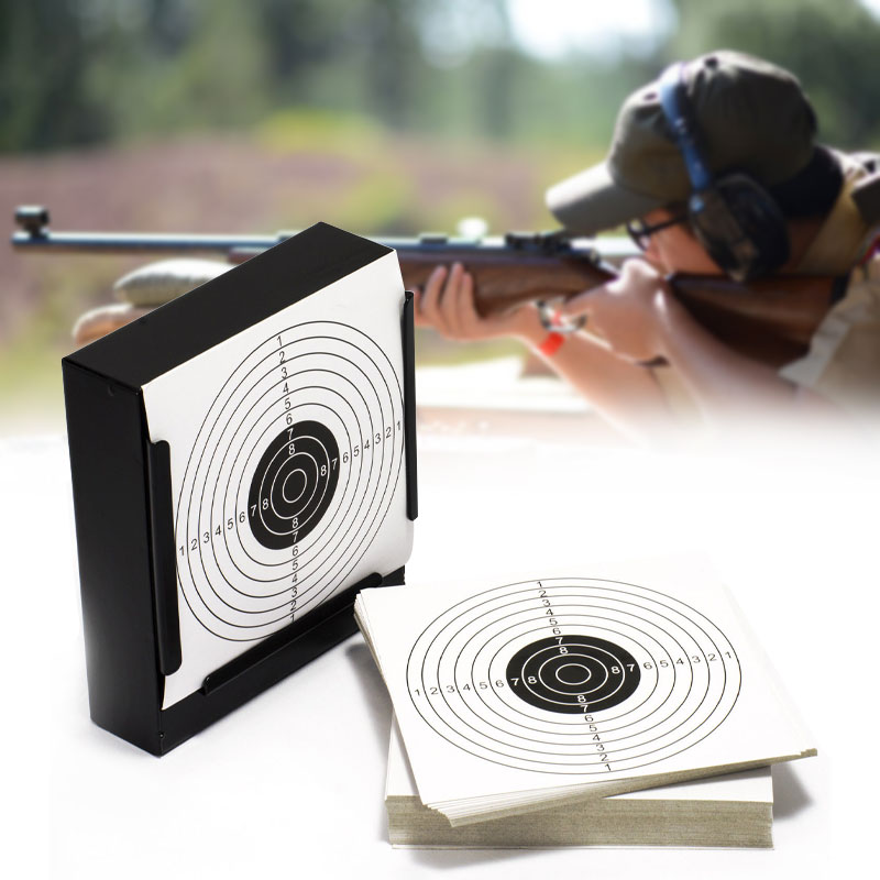 Shooting Targets 5.5 Holder Pellet Trap + 20 Paper for Pistol/Airsoft/BB Gun /Air Rifle asg licensed cz 75 p 07 duty co2 177 bb air pistol black