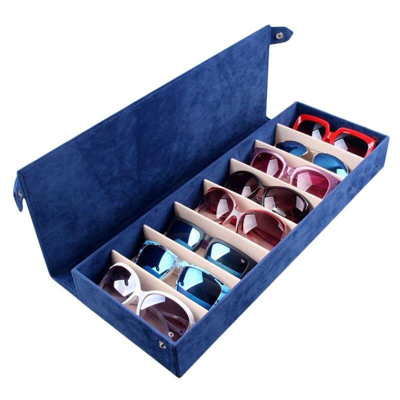 8 ranuras para gafas, soporte para gafas de sol, almacenamiento de gafas, estuche de exposición, joyería, caja de almacenamiento de bandeja, organizador Unisex