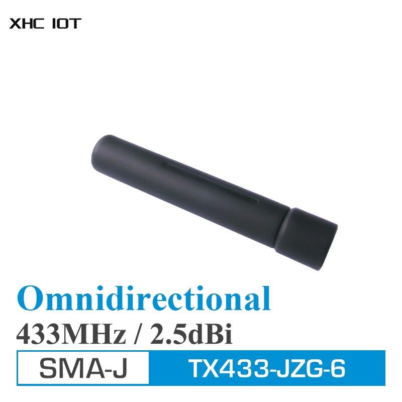 2 шт. УКВ внешняя антенна 433 МГц высокое усиление всенаправленная антенна SMA Мужской 2.5dBi XHCIOT TX433-JZG-6 Omni Wi-Fi антенны для Связь