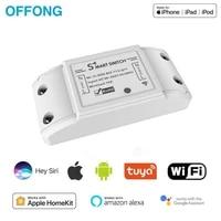Interrupteur declairage intelligent WiFi universel  disjoncteur intelligent  vie intelligente tuya  Homekit APP  telecommande sans fil pour Alexa Google Home