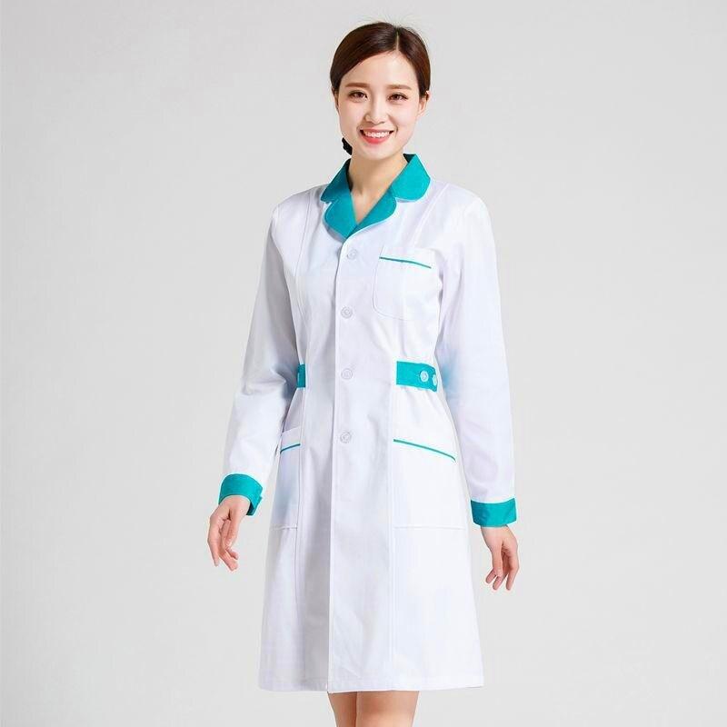 Униформа медсестры с длинным рукавом лаборатории белое пальто доктор Услуги медсестра Услуги аптека комбинезоны для девочек униформа для ...