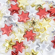 12pc noël boule étoiles ornements sapin de noël à monter soi-même décoration nouvel an suspendus ornement pendentif pour la maison mariage fête décor