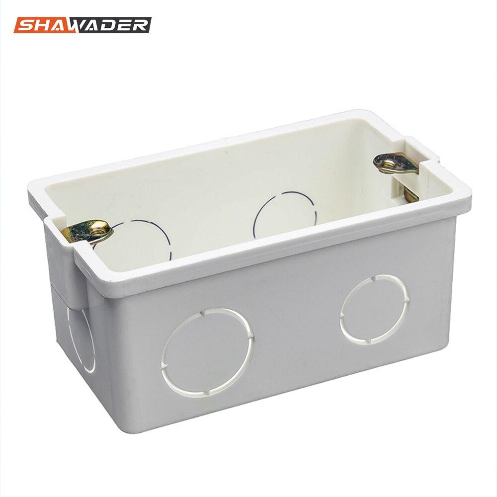 Junction Box US/AU Standard Electrical Mounting  Rectangle Handy  Secret Stash Conduit Wall Mount Switch PVC