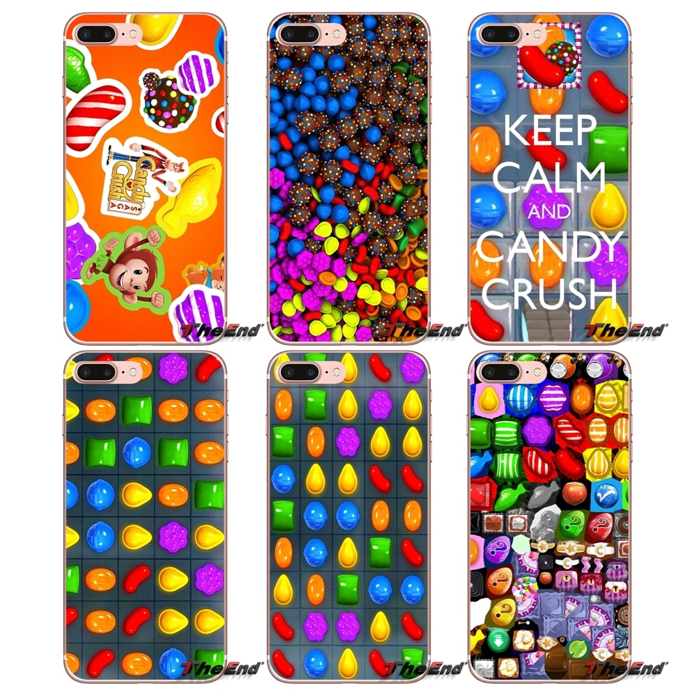 Para o iphone X 4 4S 5 5S 5C SE 6 6 S 7 8 Plus Samsung galáxia J1 J3 J5 J7 A3 A5 2016 2017 doces saga esmagamento Suave Silicone Telefone caso