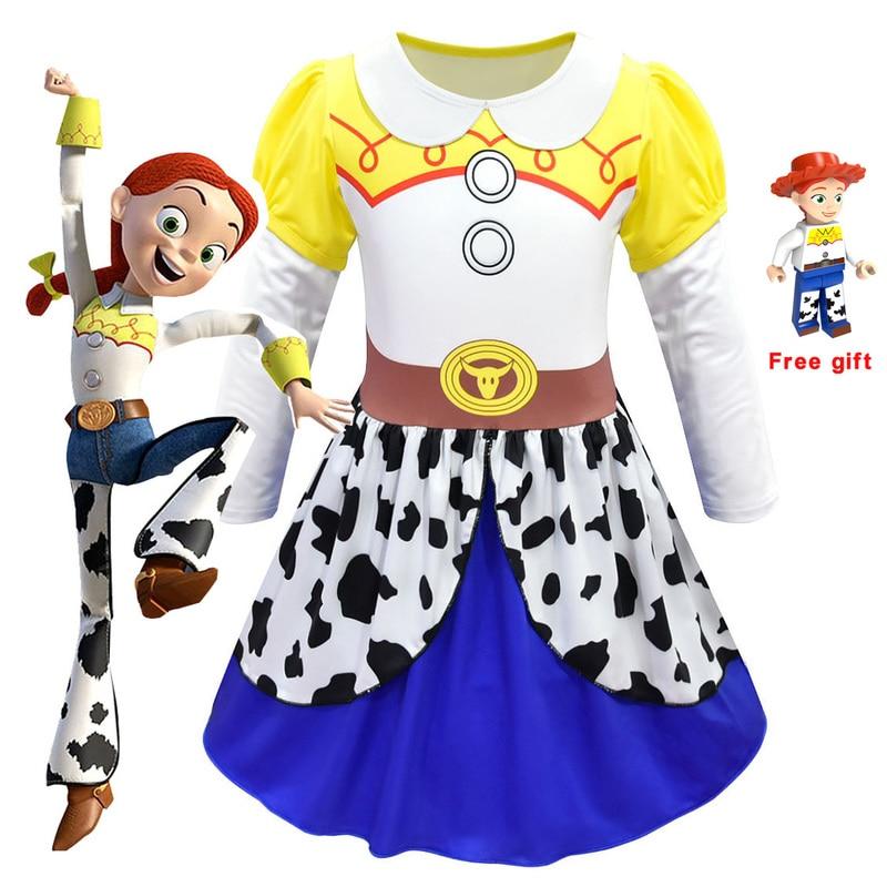 Hot Movie wan ju Jessie dress Cosplay Costume wan ju Uniform suit Cosplay Halloween Costumes Kids Girl Dance party dress