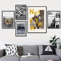 new york city bridge beach wall art poster nordic magazine photography picture modern home decor living room canvas painting
