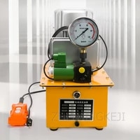 220v 380v electric hydraulic pump portable 750w high pressure pump hand switch foot switch with shockproof pressure gauge