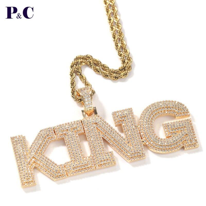 Именное ожерелье на заказ, три слоя, полная дрель, буквы, кулон, Сварочная теннисная цепь, индивидуальный подарок, Прямая доставка