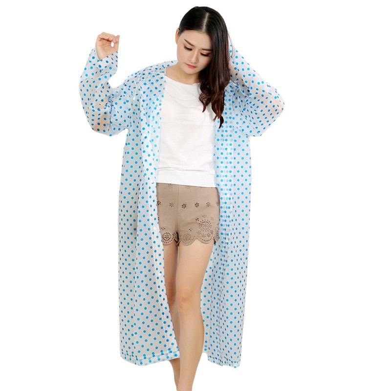 Утолщенный Модный водонепроницаемый дождевик, женский прозрачный водонепроницаемый дождевик для кемпинга