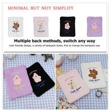 11 polegada tablet capa bolsa dos desenhos animados bonito urso caso saco para 10.5 11 polegada mac ipad caso portátil algodão macio sacos de viagem para ipad