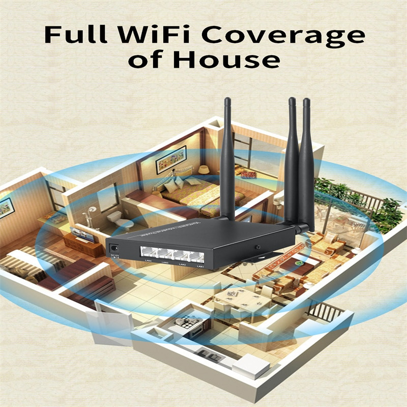 4G WiFi Router With SIM Card Slot 300Mbps Wireless WiFi 3G/4G LTE TDD/FDD Routers External 3PCS Antenna Signal Amplifier OOZEIN