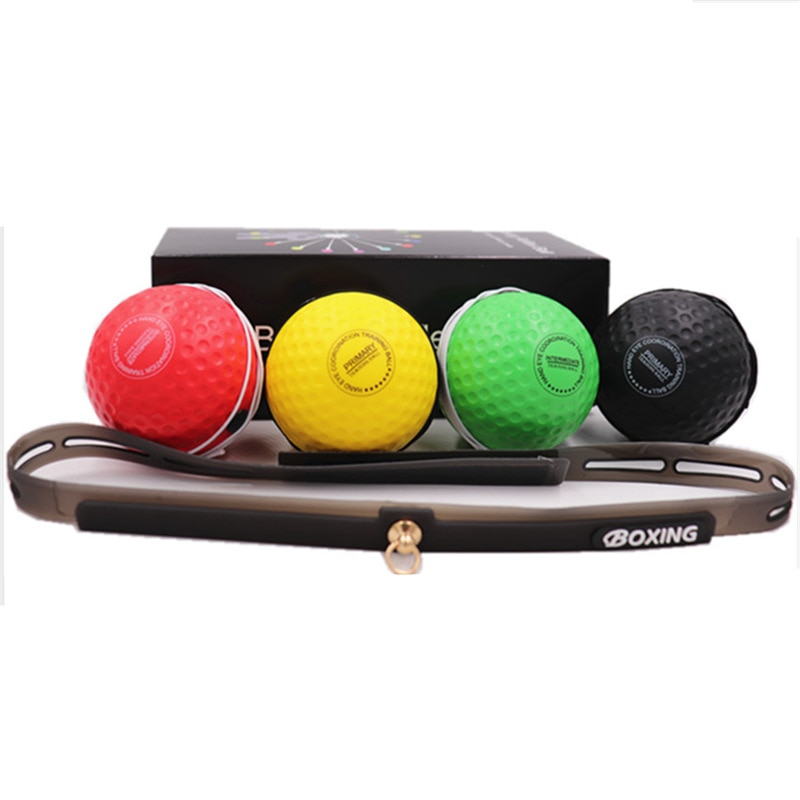 fight ball lomachenko punching ball boxing equipment training apparatus muay thai boxing trainer accessories speed fast ball gym Boxing Reflex Ball Set 4 Ball Fitness Punching Head Band Home Gym Reaction Speed Training Muay Tai MMA Exercise Boxing Equipment