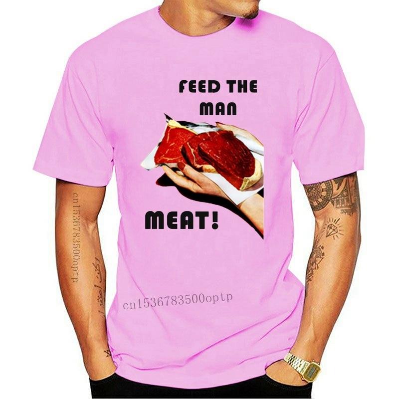 2019 nuevo verano camiseta alimentar el hombre bistec de carne barbacoa tipo...