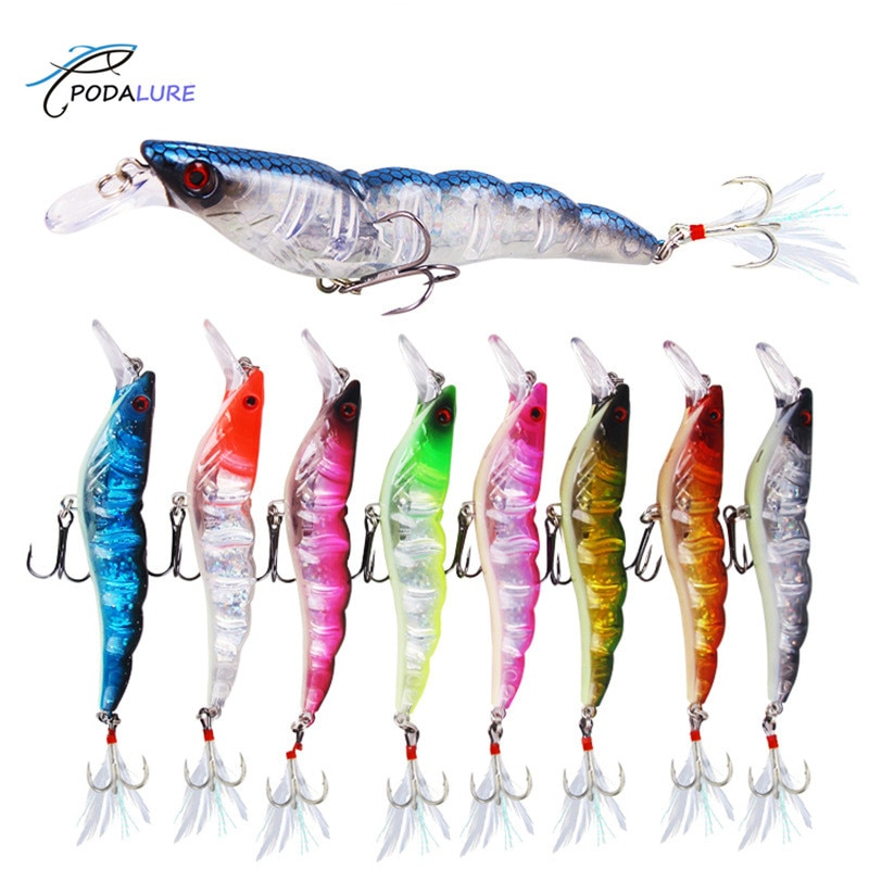 Chasebaits Flick Prawn Shrimp Hard Fishing Lure Artificial Tackle 13.6g/9.5cm