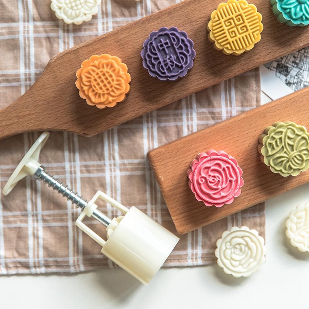 Moldes de padaria lua bolo ferramenta cookie flor selo mooncake molde acessórios da cozinha maamamoul oriental pastelaria molde forma para assar