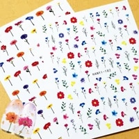 newest hanyi 246 flower design nail art sticker decal stamping back gule diy nail decoration tools