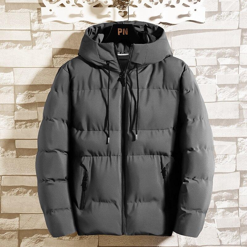 Мужская куртка, зимняя хлопковая одежда, молодежная Короткая толстая пуховая куртка с капюшоном, индивидуальная трендовая зимняя одежда