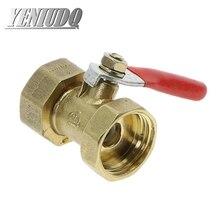 Messing kugel ventil 1/4'' 3/8'' 1/2'' Weibliche Gewinde Ball Ventil Messing Verbinder Gemeinsamen Kupfer Rohr Fitting Koppler Adapter