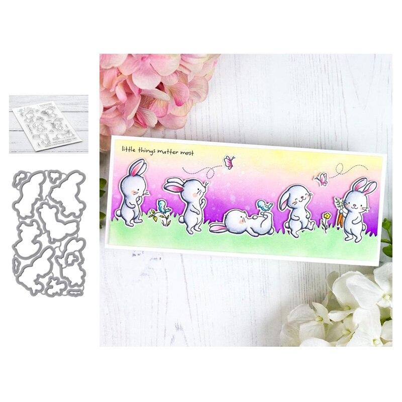 LLove CCraft луговые кролики металлические режущие штампы и штампы для DIY скрапбукинга пресс-формы лезвия Дырокол трафареты