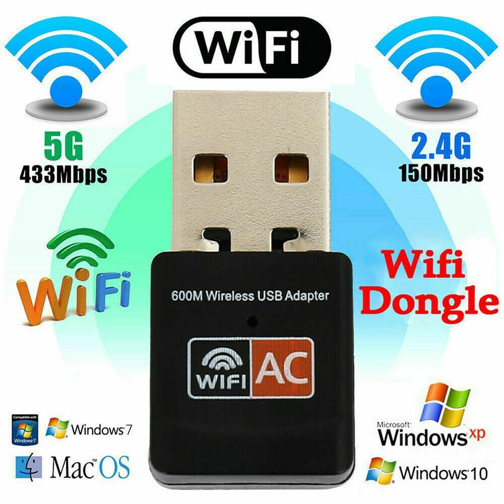 Беспроводной USB wi-fi адаптер, 600 Мбит/с, wi-fi приемник для ПК, сетевая карта, двухдиапазонный wi-fi 5 ГГц адаптер, Lan USB Ethernet ресивер AC wi-fi