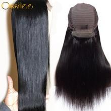 Perruque Lace Front Wig naturelle brésilienne Remy lisse   13x6, pre-plucked, densité 150%, perruque Lace Wig, pour femmes