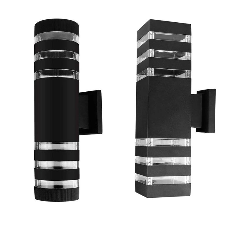 E27 مصباح حائط LED خارجي مقاوم للماء ، مصباح حائط ألومنيوم مزدوج الرأس للشرفة ، الممر ، الشرفة