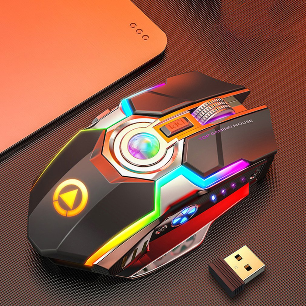 Wireless Gaming Mouse Rechargeable 2.4G Silent 1600DPI Ergonomic 7 Buttons LED Backlight USB Optical Mouse Gamer For PC/Laptop