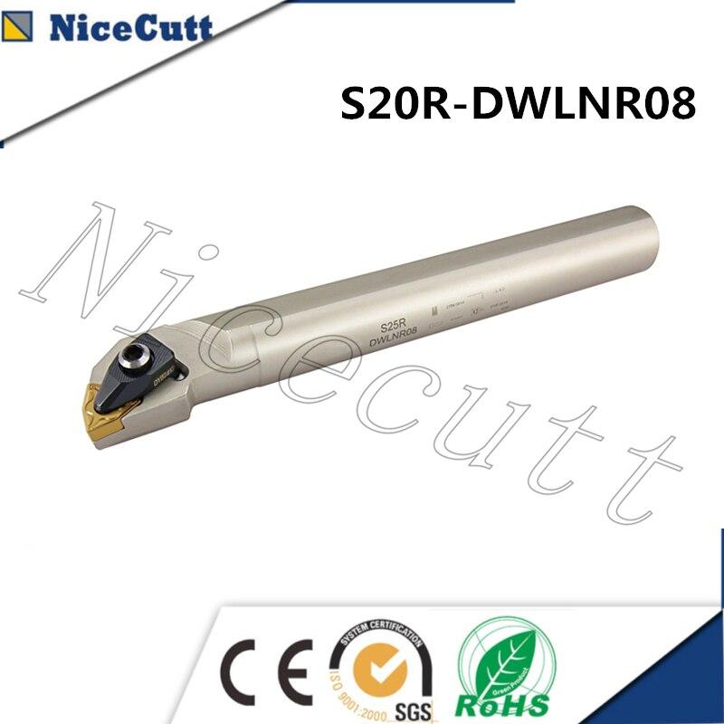 S20R-DWLNR08 держатель для токарного станка внутренний токарный инструмент держатель для WNMG вставной токарный инструмент держатель Nicecutt Беспла...