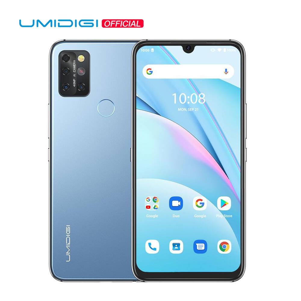 UMIDIGI A9 Max Android 11 Samrtphone 48MP AI Matrix Quad Camera Helio P60 Octa Core 8GB+128GB 6.3
