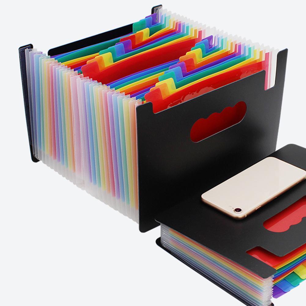 Colorful A5 Pockets Expanding File Folder A4 Organizer Portable Business File Office Supplies Document Holder Carpeta Archivador