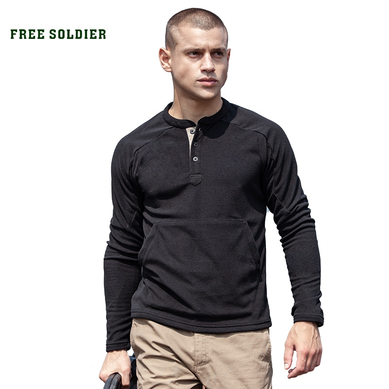 Свободный солдат уличная ловля флисовая Мужская осенняя и зимняя спортивная Толстая куртка флисовая плюс бархатная теплая нижняя рубашка