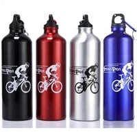 750ml bicycle water bottle aluminum alloy sports bike camping drink bottles outdoor hiking cycling kettle with buckle bc0527