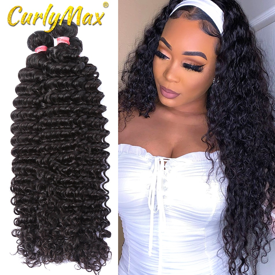 Extensiones de cabello humano brasileño con ondas profundas de pelo Luvin, ondas profundas 8-30, extensiones de cabello humano brasileño, paquetes de ondas profundas