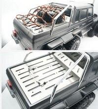 Garde de plaque métallique de boîte de queue de coffre dacier inoxydable pour la voiture de chenille de 1/10 RC Traxxas TRX6 G63 6x6