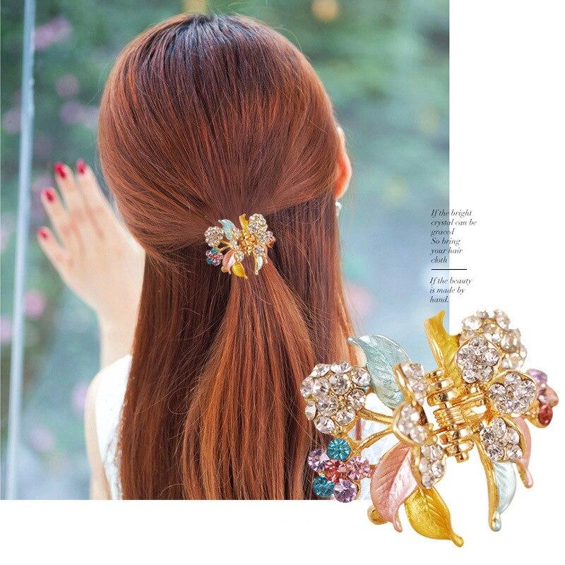 Фото - Женская модная цветная заколка для волос, маленькая заколка для волос с окрашенными листьями, модная заколка для волос, капающая заколка дл... заколка aiyony macie aiyony macie mp002xw0izea