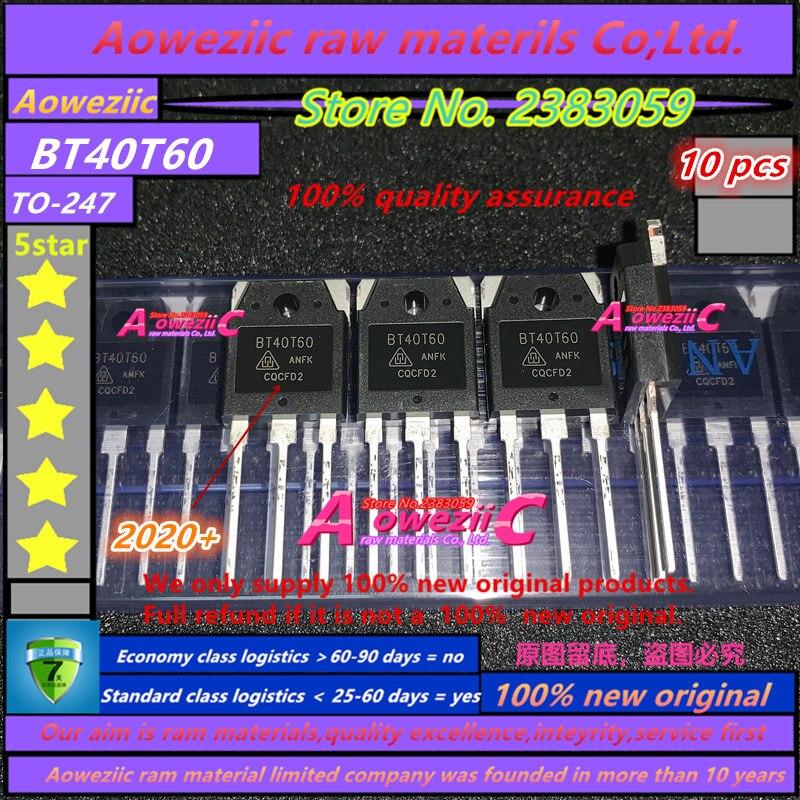 Soldador de Tubulação 2021 + 100% Aoweziic Original Novo Para-247 Igbt Geralmente 40v600v Bt40t60 Bt40t60anf