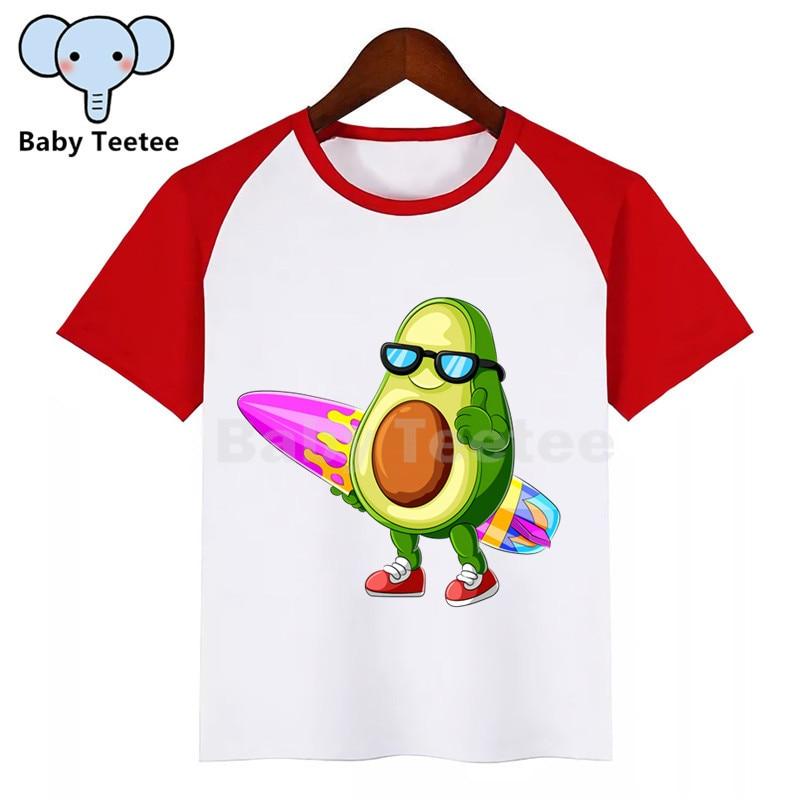 アボカド新キッズガールズボーイズ夏カジュアルビーガンtシャツプリント子供服はかわいいキッズベビー半袖tシャツ