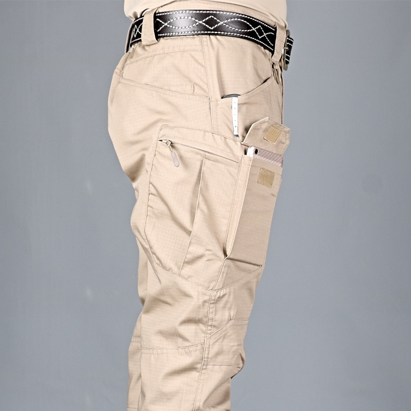 cargo pants men Multi Pocket Outdoor Tactical Sweatpants military army plus size Waterproof Quick Dry Elastic hiking Trousers